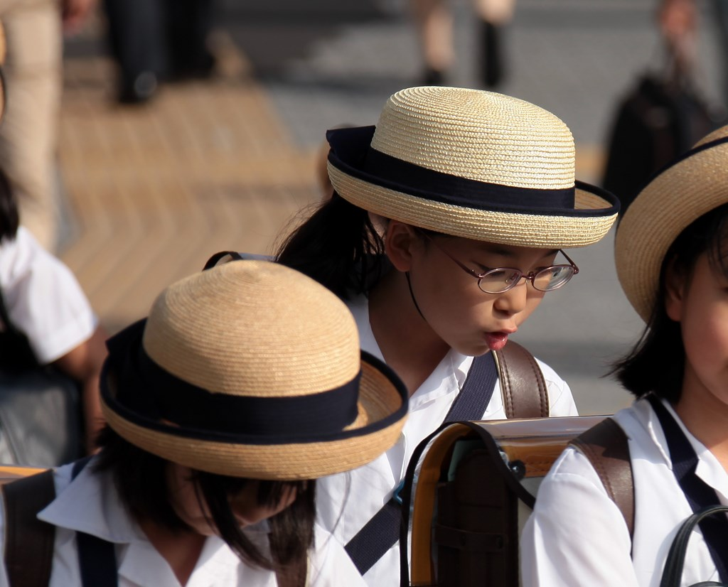 Japan Tokyo Schoolgirl Uniform sailor fuku hat and sailor-style dress