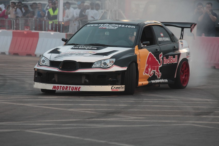 Sport car drift demonstration Abdo Feghali Red Bull Pilot