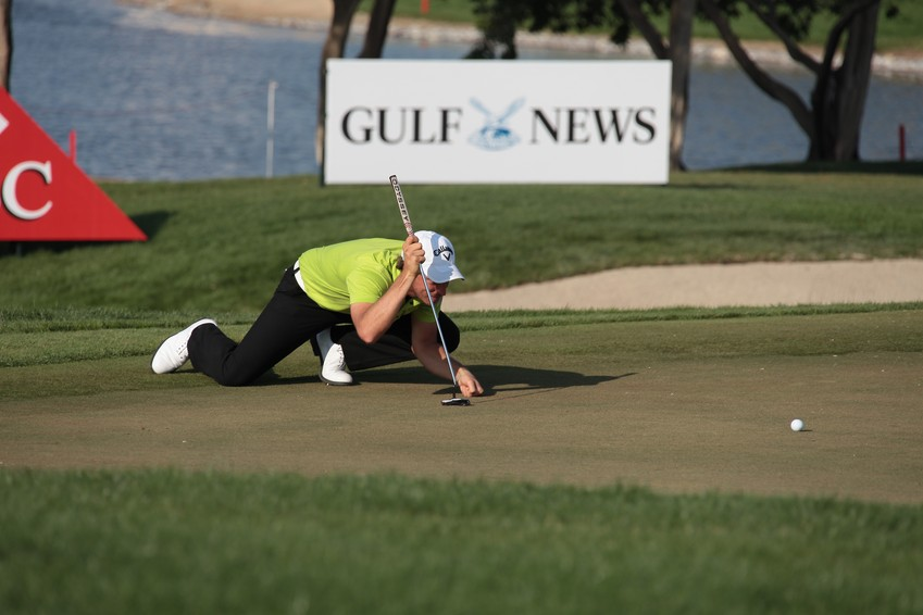 Golf Player at European Tour Abu Dhabi HSBC Golf Championship