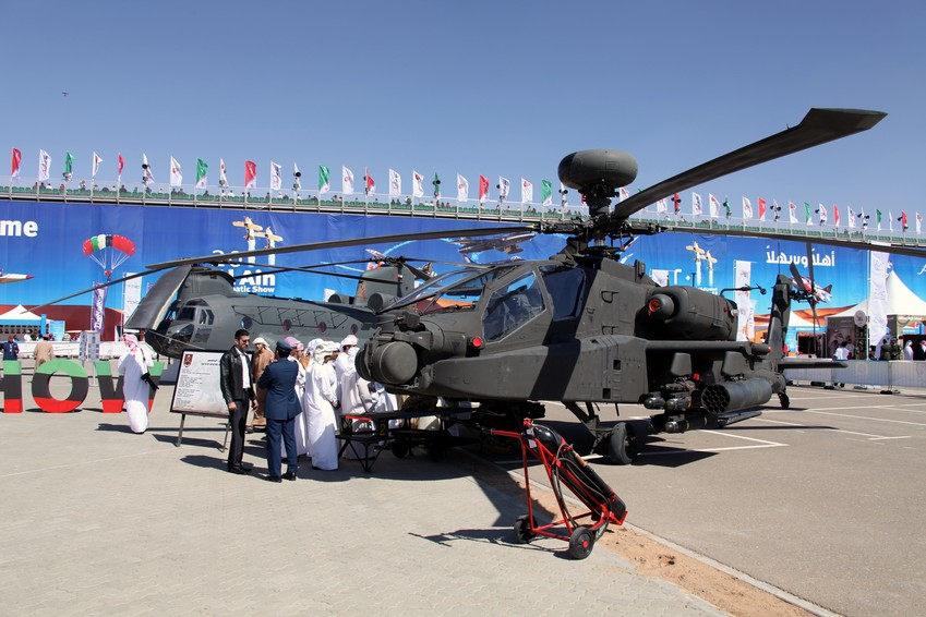 Helicopter apache UAE army display Al-Ain airshow United Arab Emirates