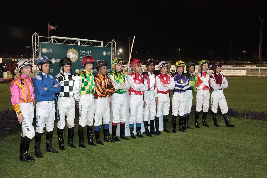 The President's Cup horse race Abu Dhabi Jockeys pictures