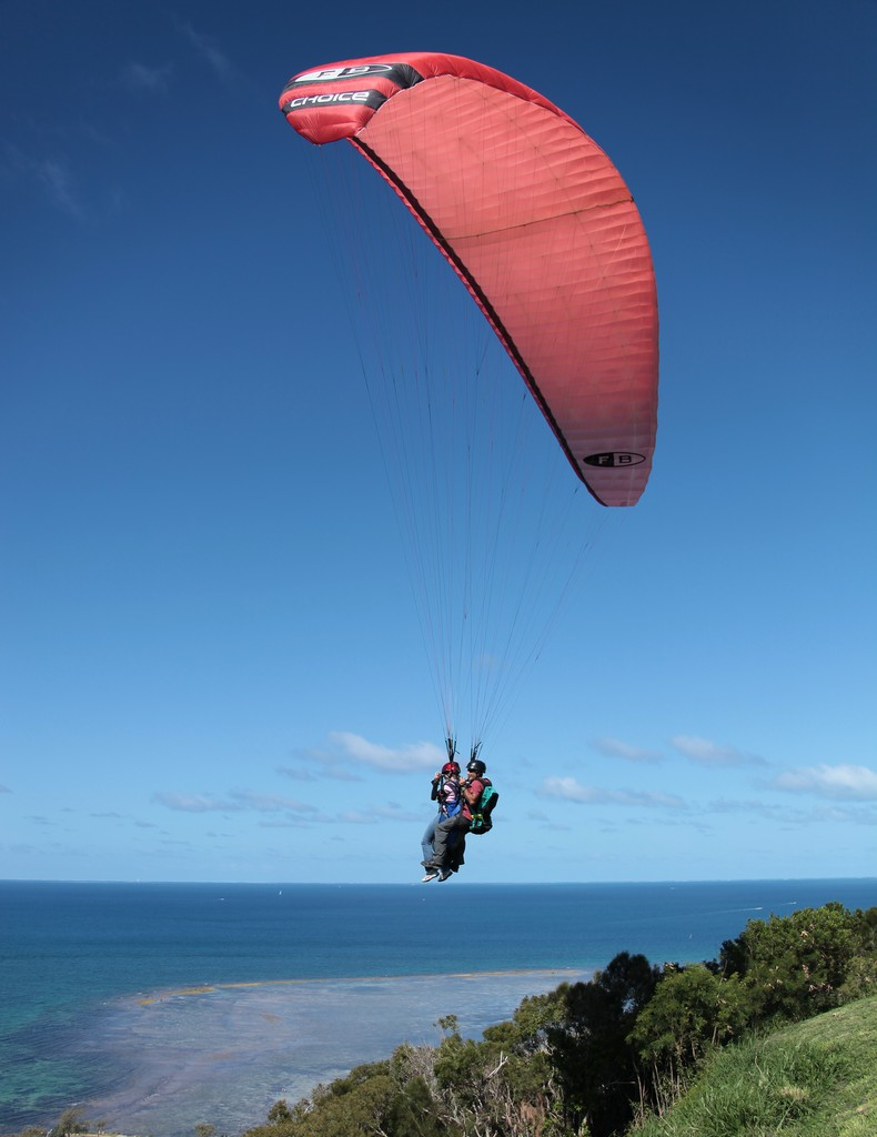 Paragliding New Caledonia Noumea  recreational and competitive adventure sport of flying