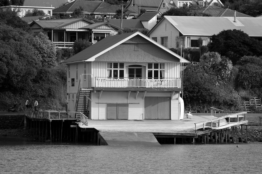 House harbour slipway New Zealand Bay Akaroa