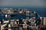 Japan Tokyo modern pictures bay bridge city by the sky