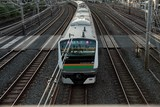 Japan Railways train station Japanese transport Tokyo Japon