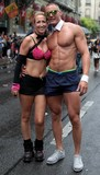 Couple Homme fitness workout super musculature Lake Parade Geneva Swiss