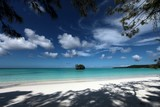 Paradise beach heaven withe sand coral sea Lifou Loyalty Islands New Caledonia