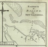 Chart Harbour of Balade in New Caledonia 1774