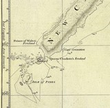 New Caledonia Chart 1774 James Cook Isle of Pines His Majesty's Ship Resolution