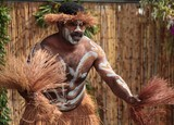 tribal dancer New Caledonia paint body