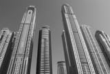 Dubai black and white picture Towers United Arab Emirats