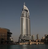Hotel The Address building Dubai construction tower mall