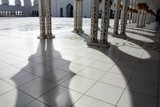 Shadows refleting on the withe marble Sheikh Zayed Grand Mosque Abu Dhabi United Arab Emirates