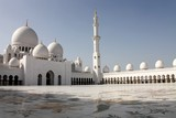 Blue sky over Sheikh Zayed Grand Mosque Abu Dhabi United Arab Emirates