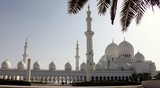 Abu Dhabi mosque Zayed picture take from the car park
