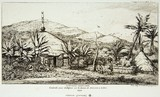 New Caledonia Large native hut on the road from Balade to Puebo 1845