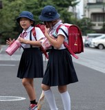 School-age female child Japan Tokyo Uniform dress