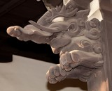 ​Baku wooden carving 獏 貘 sculpture Japanese elephant nightmare devouring Japan Shinto shrines