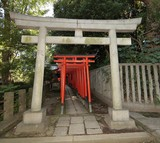 Traditional Japanese gate Shinto shrine Buddhist temple Japan Tokyo 明神鳥居