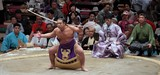 Yumitori-shiki 弓取式 Bow Twirling Ceremony Sumo Bout Tokyo Japan